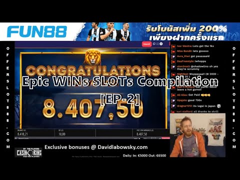 Epic WINs SLOTs Compilation : ช็อตเด็ดสล็อต & คาสิโนออนไลน์ BY FUN88 [EP-2] MEGA WIN €12485!