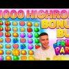 HIGHROLL FRUITPARTY BONUS BUY  | BIG WIN ON PRAGMATIC PLAY ONLINE SLOT MACHINE