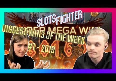 Biggest Slots Wins Of The Week – Week 1 / 2019