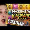 KATMANDU GOLD SLOT 6 SCATTERS BONUS AND MASSIVE BIG WIN!