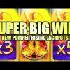 SUPER BIG WIN!! NEW POMPEII 15X MULTIPLIER HIT! POMPEII RISING JACKPOTS Slot Machine (Aristocrat)