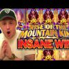 RECORD WIN!! RISE OF THE MOUNTAIN KING BIG WIN – INSANE WIN on Casino slot from CasinoDaddys stream