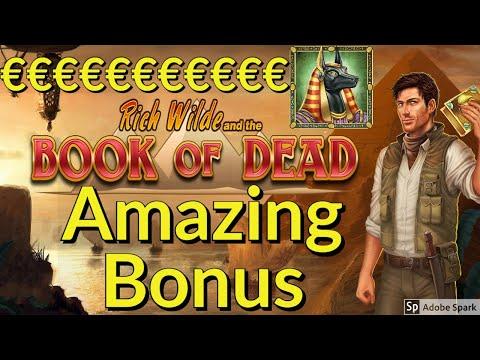 Crazy Book of Dead Online Slot Bonus Mega Win
