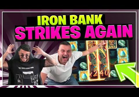 IRON BANK HUGE WIN AGAIN! INSANE WIN ON RELAX GAMING SLOT