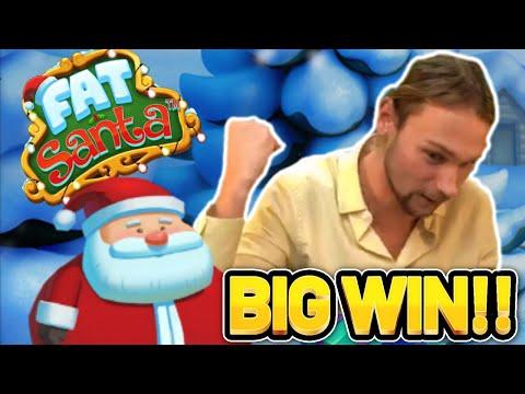 HUGE WIN!!! FAT SANTA BIG WIN – €10 bet on Casino slot from CasinoDaddys stream