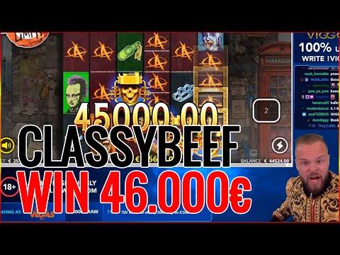ClassyBeef Win 46.000€ on Punk Rocker Slot – Big Wins World Record Video