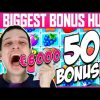 MY BIGGEST BONUS HUNT OPENING – 50 SLOTS BONUSES, BIG WINS!