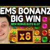 Gems BONANZA Slot BIG WIN!