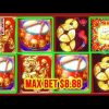 ** SUPER BIG WIN ** DANCING DRUMS ** MAX BET 8.88  ** SLOT LOVER **