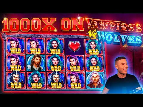 CLOSE TO THE MAX WIN ON VAMPIRES VS WOLVES | HUGE WIN ON PRAGMATIC PLAY ONLINE SLOT MACHINE