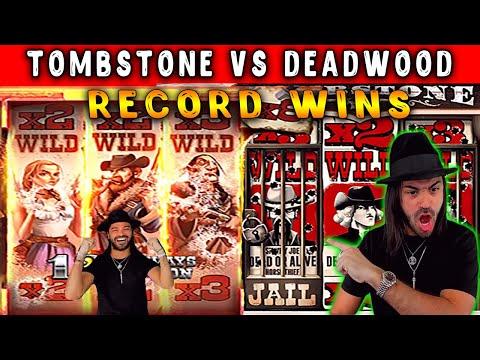 Roshtein – Deadwood vs Tombstone slots! Mega win in Online casino!