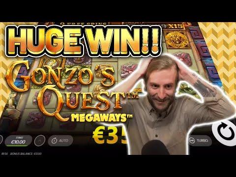 HUGE WIN! GONZOS QUEST MEGAWAYS BIG WIN –  Online Slots from Casinodaddy LIVE STREAM