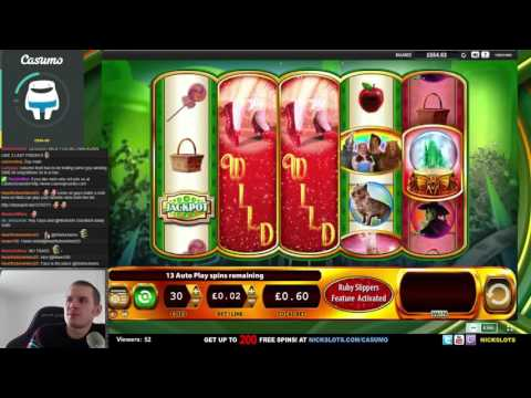 SUPER BIG WIN on Ruby Slippers Slot – £0.60 Bet