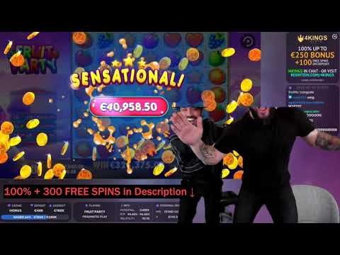 ROSHTEIN €326,345 NEW WORLD RECORD WIN on FRUIT PARTY Slot | 🎁 in description
