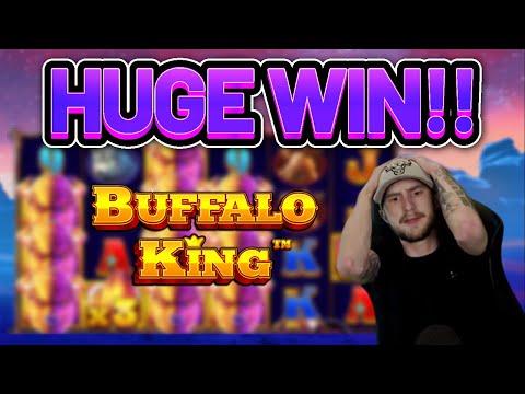 HUGE WIN!!!! BUFFALO KING BIG WIN –  Casino slot from Casinodaddy LIVE STREAM