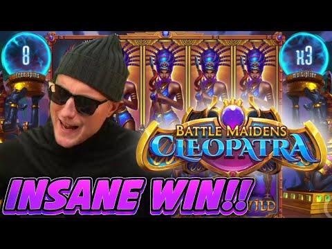 INSANE WIN!! BATTLE MAIDENS CLEOPATRA BIG WIN – Casino slot win from Casinodaddy