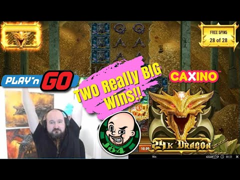 Two Really Big Wins From 24K Dragon Slot!!