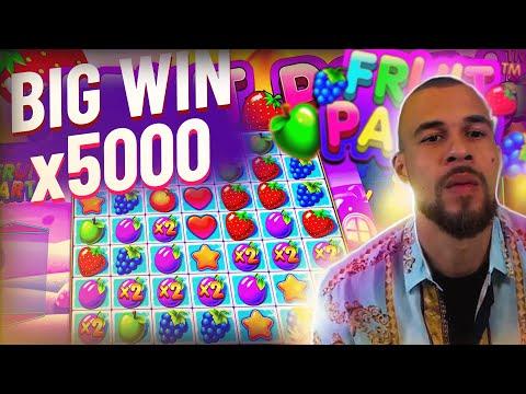 ClassyBeef Big Win x5000 on Fruit Party slot – TOP 5 Biggest wins of the week