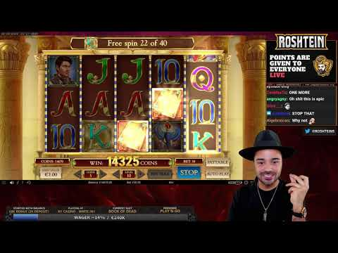 ROSHTEIN MEGA WIN on CASINO SLOT BOOK OF DEAD