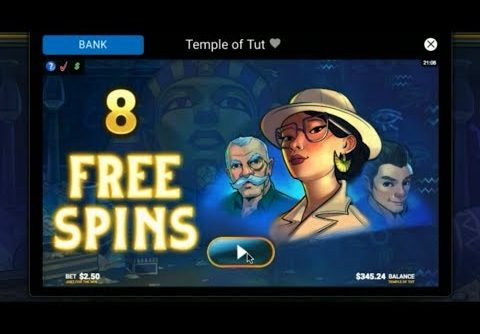 New   Templte of Tut Slot Bonus   Free spins  Mega Win! – $2.50 Bet