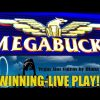 MEGABUCKS SLOT MACHINE-WINNING!-LIVE PLAY