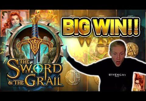BIG WIN! SWORD AND THE GRAIL BIG WIN –  Casino Slots from Casinodaddy LIVE STREAM