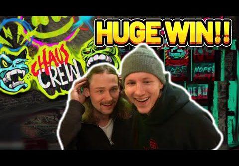 HUGE WIN!! CHAOS CREW BIG WIN – CASINO SLOT WIN FROM CASINODADDY