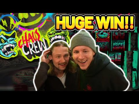 HUGE WIN!! CHAOS CREW BIG WIN – CASINO SLOT WIN FROM CASINODADDY