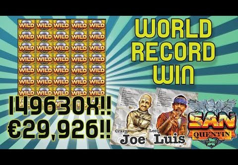 WORLD RECORD SLOT WIN – San Quentin – €29,926 from €0.20!!