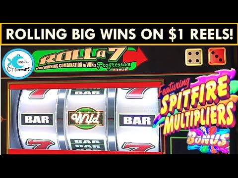BIG WINS MAX BETTING $1 REEL SLOT MACHINES – Roll a 7, Pinball, Diamond Jackpots