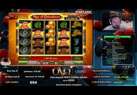 Super Big Win From Age Of Privateers Slot!!