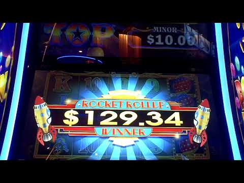 Big Top Slot Machine Rocket Roller BIG WIN Bonus