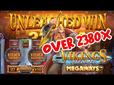 CRAZY BIG WIN ON VIKINGS UNLEASHED MEGAWAYS SLOT – MAX MAX AND IT GOES OFF!!!