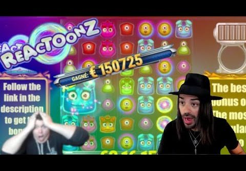 TOP 5 BIGGEST WINS ON REACTOONZ SLOT OF ALL TIME