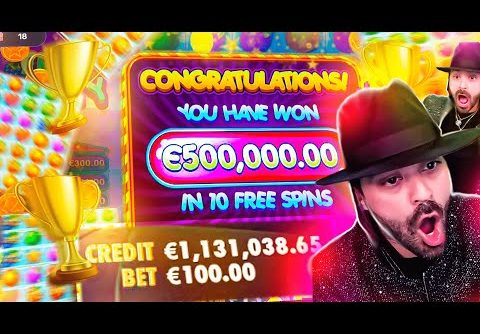 ROSHTEIN New World Record Win 500.000€ on Fruit Party Slot – TOP 5 Mega wins of the week
