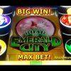 Wizard of Oz – Road to Emerald City – MAX BET! – BIG WIN! – Slot Machine Bonus