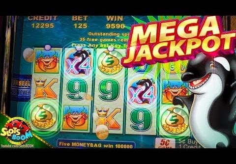 MEGA JACKPOT RE-TRIGGER !!! Whales of Cash 5c Aristocrat Video Slot in San Manuel Casino