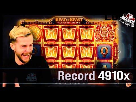 BREAKING RECORDS! ♥ Insane 4910x WIN! ! ♥ Beat the Beast ♥ Big Slot Wins (Feb 2021) ♥