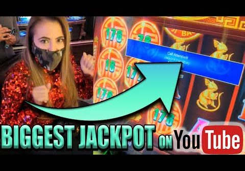 RECORD SMASHED! BIGGEST JACKPOT on YouTube For PRANCING PIGS SLOT MACHINE in VEGAS