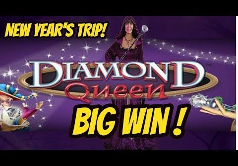 BIG WIN! DIAMOND QUEEN SLOT MACHINE WITH REX