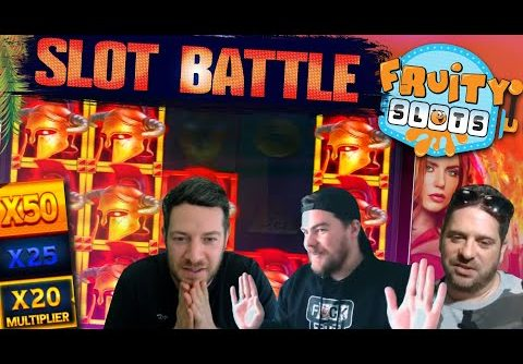 LATEST FRUITY SLOT BATTLE feat. NEW slots with MEGA WIN potential!
