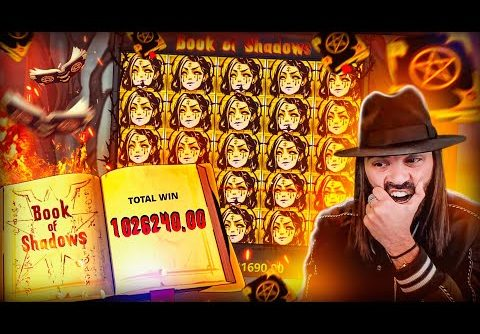 ROSHTEIN watching world Record Win 1.000.000€ on Book of Shadows Slot – TOP 5 Mega wins of the week