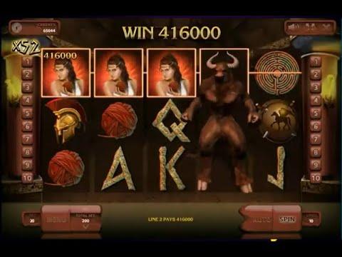Slot Minotaurus Record Mega Big Win. Casino bonus codes