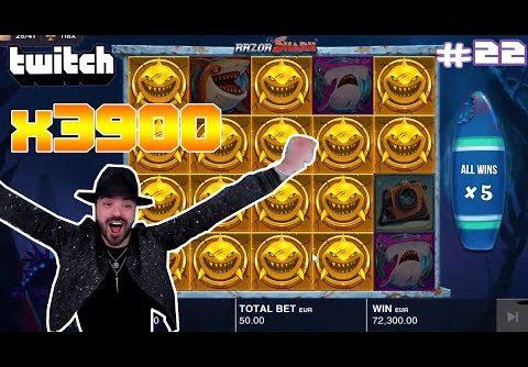 Streamer Super Record Win x3900 on Razor Shark slot | Twitch Highlights #22