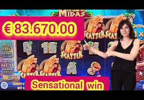 the hand of MIDAS. 5 SCATER. big win on new slot  ✋ 🤚