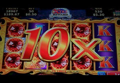 Volcanic Rock Fire Slot Machine Bonus – Free Games w/ Random Wilds + Multipliers – MEGA BIG WIN (#3)