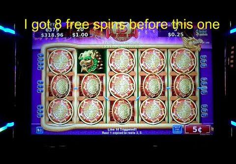 "MEGA BIG WIN!. ""Flying Fortune Slot Machine"" ( 5 cent denom)"
