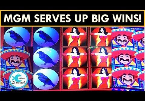 MGM SERVING UP BIG WINS! CHILIS, BUNNIES AND RAVENS! More Chilli Slot Machine, WW2!