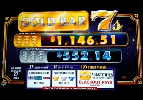 Gold Bar 7s Slot – BIG WIN – Blackout Pay?!