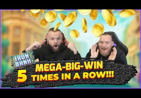 5 MEGA-BIG-WINS on Iron Bank Slot in less then 2 hours!!!